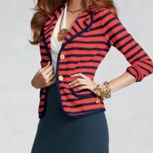 CAbi Au Revoir striped nautical blazer